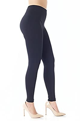 Warm Fleece Lined Leggings for Women - Ultrasoft Premium Quality - High Waisted Slimming - 10 Winter Colors by NYFC