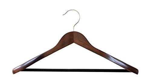 B Amp C Home Goods Set Of 6 Luxury Wooden Hangers Extra Wide