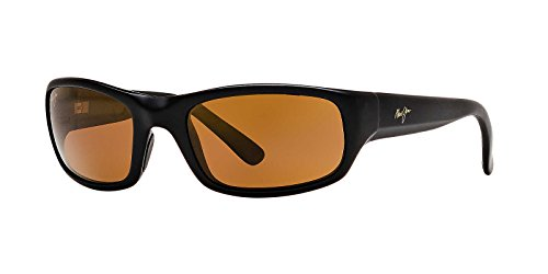 Maui Jim Mens Stingray 55 Sunglasses (103) Black Matte/Bronze Plastic,Nylon - Polarized - - Jim Stingray Maui