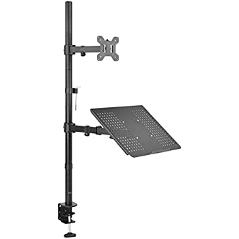 Amazon Com Vivo Laptop Amp Lcd Monitor Stand Up Desk Mount