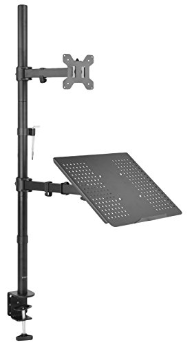 VIVO Laptop & LCD Monitor Stand up Desk Mount Extra Tall Adjustable Stand fits 1 Screen up to 27