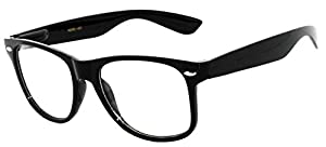 OWL - Non Prescription Glasses for Women and Men - Clear Lens - UV Protection