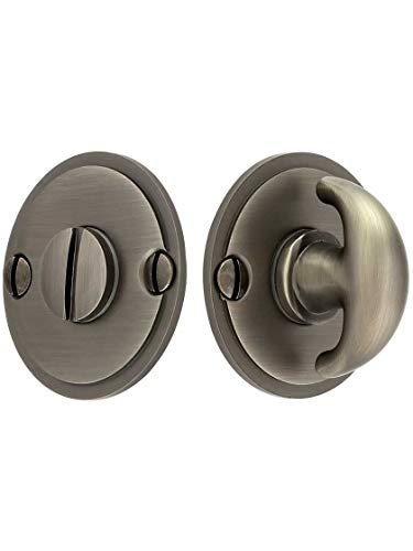 Thumbturn Antique - Thumbturn Privacy Door Bolt in Antique Pewter