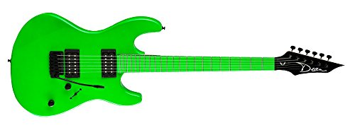 Dean Custom Zone Solid Body Electric Guitar, 2 Humbuckers Florescent Green