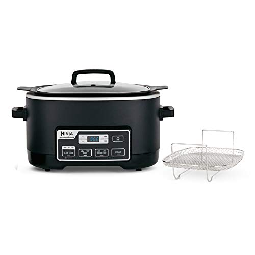 (Ninja MC760 Plus 4-in-1 Multi, Stove Top, Steam, and Bake Slow Cooker System W/Triple Fusion Heat for Excellent and Healthier Cooking Performance, 6 Quart Black)