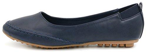 Nero Pelle Ballerine Blue Elegante AgeeMi Estate Primavera Scarpe Shoes PU Donna wXRf7xaqO