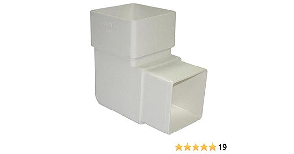 FLOPLAST 65 mm cuadrado tubería bajante 92,5 Degree juego de fisureros para escalada es posible curvar - blanco