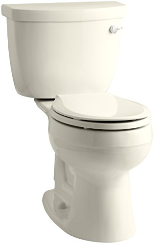 KOHLER K-3887-RA-47 Cimarron Comfort Height Two-Piece Round-Front 1.28 Gpf Toilet with Aquapiston Flush Technology and Right-Hand Trip Lever
