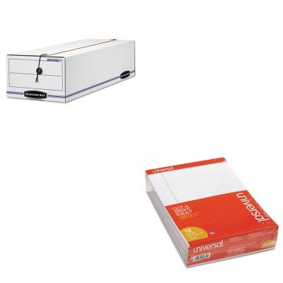 KITFEL00018UNV20630 - Value Kit - Bankers Box Liberty Basic Storage Box (FEL00018) and Universal Perforated Edge Writing Pad (UNV20630) by Bankers Box
