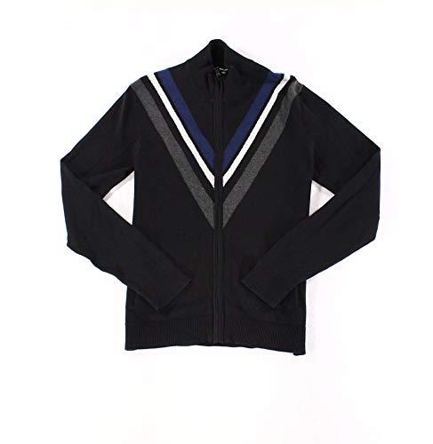 [해외]Alfani 망 스몰 풀 지퍼 스트라이프 카디 건 스웨터 / Alfani Mens Small Full Zip Stripe Cardigan Sweater