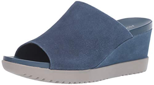 Aerosoles - Women's Blonde Wedge Sandal - Opened Toed Wedge Shoe with Memory Foam Footbed (9.5W - Denim)