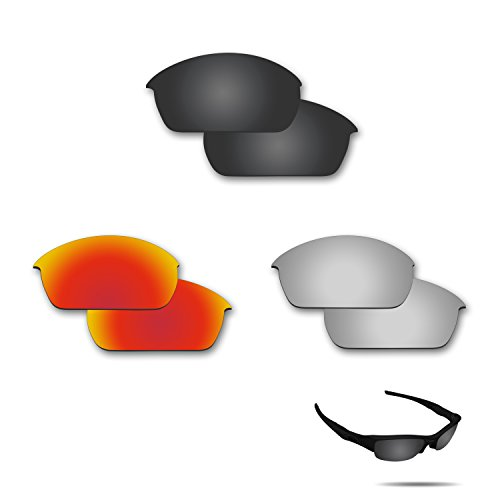 Fiskr Anti-saltwater Polarized Replacement Lenses for Oakley Fuel Cell Sunglasses 3 Pair - Fuel Cell Prizm Oakley Lenses