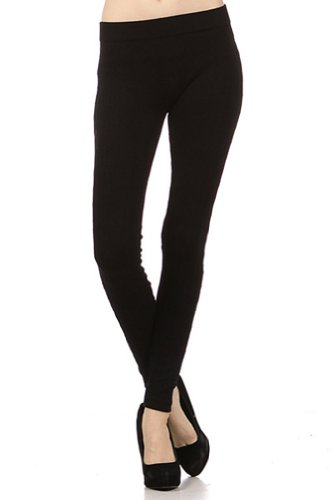Modern Kiwi Cable Knit Leggings Black One Size
