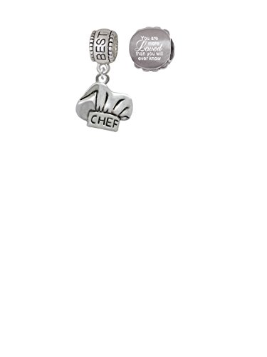Chef Hat Best Friend Charm Bead with You Are More Loved Bead (Set of 2)
