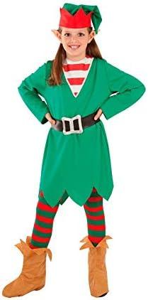 DISBACANAL Disfraz Elfa de la Navidad para niña - -, 8 años ...