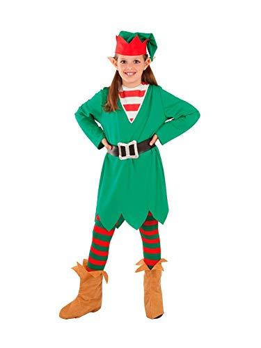 DISBACANAL Disfraz Elfa de la Navidad para niña - Único, 4 ...