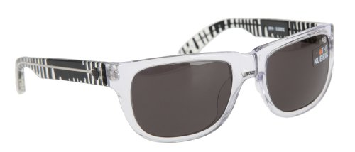 Spy Ken Block Kubrik Sunglasses Clear Drips/Grey - Glasses Spy Block Ken
