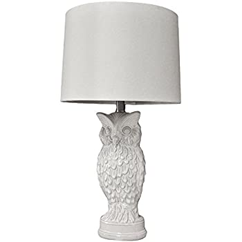 Night Owl 19 Quot High White Ceramic Accent Table Lamp