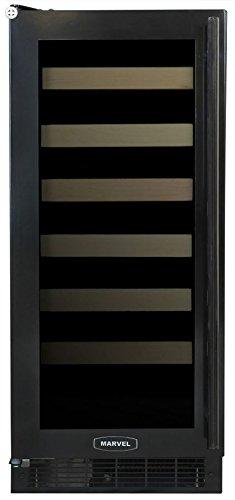 AGA Marvel ML15WSG1LB Wine Cellar, Left Hinge Black Frame Glass Door, 15-Inch