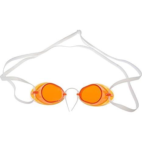 61bc80b31359 SwimmerWear Occhialini modello SVEDESI anti appannamento BORDO in GOMMA  nuoto (Arancione)