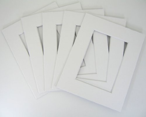 50 set of White 12x16 Photo Mats for 8x12 + backing + bags