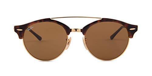 Ray-Ban Unisex 0RB4346 Clubround Double Bridge 51mm Havana/Brown One Size