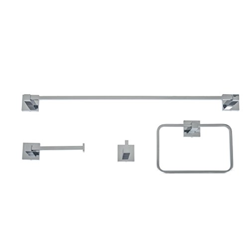 Italia CA4SET Capri 4 Piece Bathroom Accessory Set, Polished Chrome by Italia