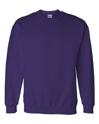 Gildan Dryblend Adult Crew Neck Sweatshirt, Purple, Medium