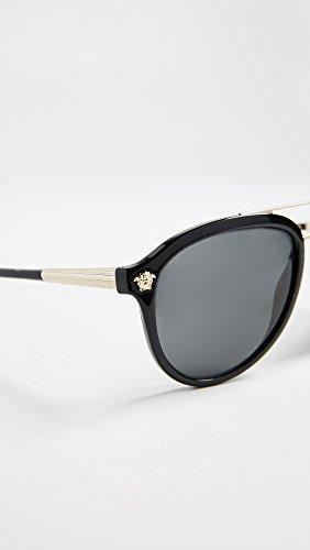 BLACK GLAM Soleil homme Versace 4341 Lunettes GREY VE MEDUSA de YxCwgYrq