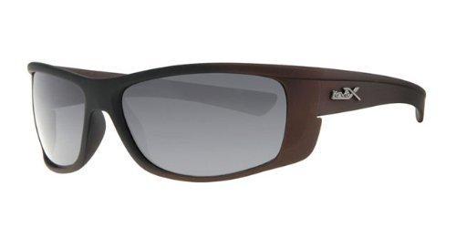revex polarizadas deportivo Hombre Gafas de sol Sport Biker Cilindro de gafas con bolsa Negro Marrón
