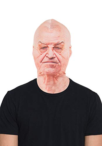 Pro Silicone Halloween Masks (Faux Real Unisex-Adult's Old Man Mask, White, One)