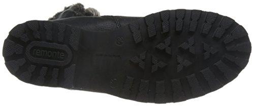 01 Mujer Schwarz Botas Nieve para D7481 Negro Sigaro Remonte de XBFz7wqT