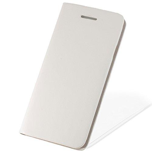 【F-grip】 iPhone7 ケース / アイフォン7 ケース 手帳型 カバー カードポケット レザー 革 (iphone7, ホワイト)