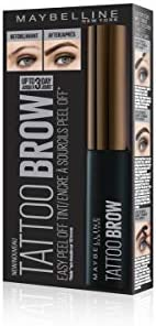 f66c1b7222e Amazon.com : Maybelline New York Brow Tattoo Longlasting Tint, Dark Brown,  4.9 ml : Beauty