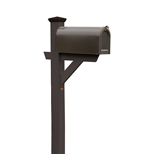 (Phat Tommy Outdoor Recycled Poly Highwood Mailbox Post–Made in USA, Eco-Friendly Patio Furniture, Clearance)