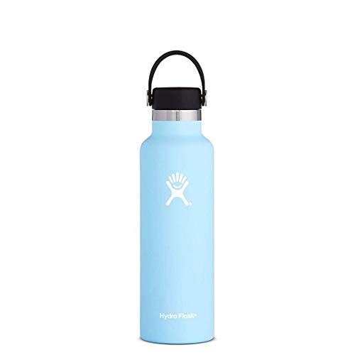 Hydro Light - Hydro Flask 21 oz Water Bottle | Stainless Steel & Vacuum Insulated | Standard Mouth with Leak Proof Flex Cap | Frost