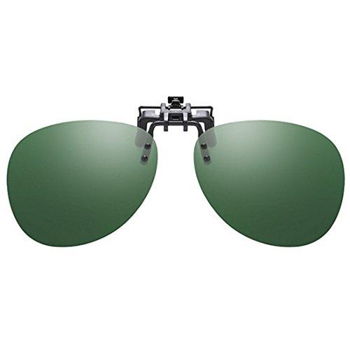 Huicai Foncé cadre de Clip on UV400 Polarized sans de Lunettes soleil soleil Vert de conduite Unisexe Lunettes rFxawF