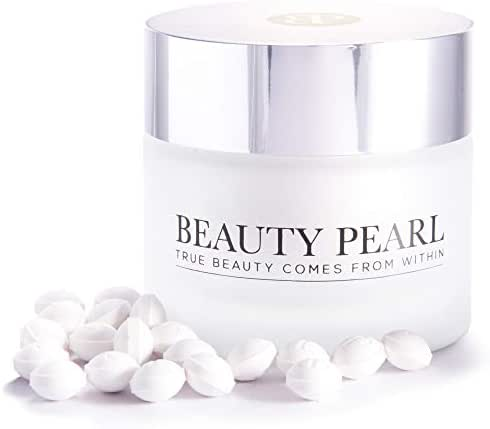 Beauty Pearl Care Skin Beauty Supplement ; Antioxidant, Hyaluronic Acid, Collagen Building, Skin Moisturizing, Vitamin E, Coenzyme Q10 |  All Natural, Vegan ingredients (60 Beauty Pearl Pills)
