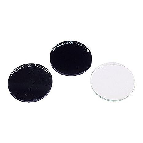 Soldador de cristal Protector redondo DIN 0 Diámetro 50 mm – 10 Unidades – para soldar