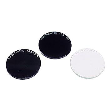 Soldador de cristal Protector redondo DIN 10 Diámetro 50 mm – 10 Unidades – para soldar