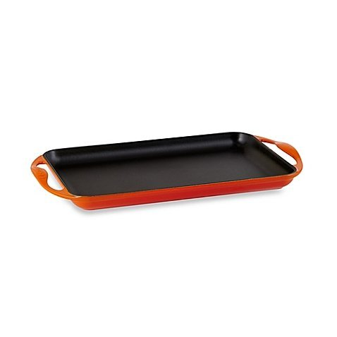 (Le Creuset® Rectangular Skinny Griddle in Flame)