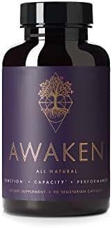 Awaken Premium Nootropic Supplement   Advanced All-Natural Brain Nutrition   Improves Brain Function, Capacity and Performance   10 Premium Ingredients   45 Servings