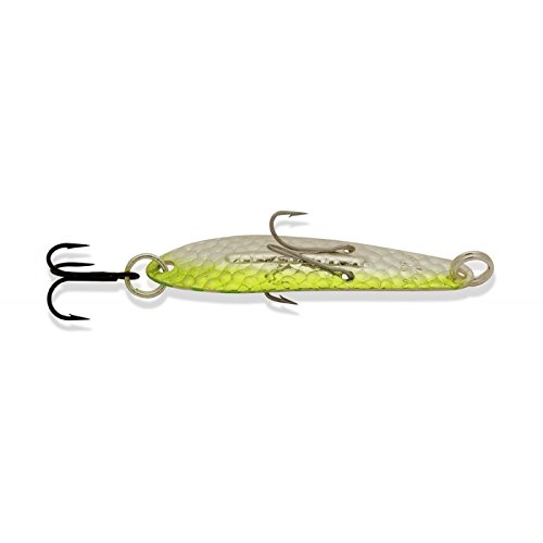 Ice Williams - Ice Jig Williams Lures - Silver & Green Nu-Wrinkle - J60GRN - 3-1/4