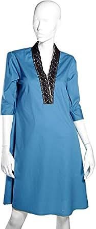 Sana'a Kayum Blue Casual Kurta & Kurtis For Women