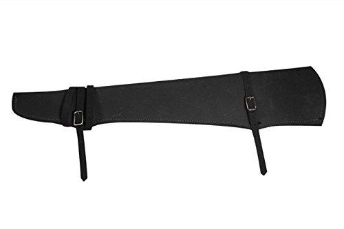 Showman Rough Out Leather Shotgun Rifle Scabbard 31'' (Black) by Showman