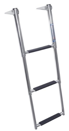 Windline TDL-3X Marine Stainless Steel Over Platform Telescoping Boat Ladder with 3 Steps ()