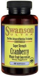 Swanson Cranberry Whole Fruit Concentrate - Super Strength 420 mg 60 Sgels (Super Cranberry)