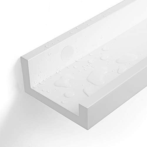 Floating Shelves Ledge 23-inch Long Easy Assembly SONGMICS Wall Shelves Set of 2 Picture Shelving Ledge Modern Design Storage MDF White ULWS60WT
