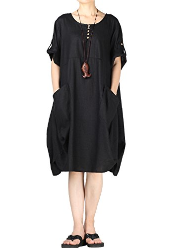 WOMEN'S COMFY SUMMER BAGGY DRESS WITH POCKETS NOW ONLY $34.89!
