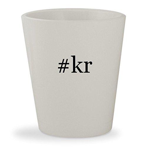 #kr - White Hashtag Ceramic 1.5oz Shot Glass